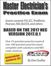 Master Electrician Practice Exam Based on 2017 NEC
