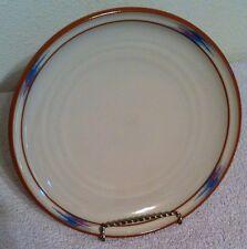 "Noritake Stoneware Raindance 8675 Santa Fe Blue Red Edge 8 1/4"" Salad Plate"