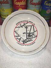 Cool vintage mid century Metropolitan Petroleum location map ashtray Buntingware