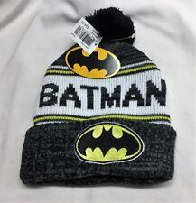 DC Comics Batman Logo Winter Knit Cap Hat Beanie Black Cuffed FREESHP