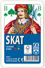32 Blatt Ravensburger Spielkarten Skat Turnierkarte des DSkV Etui 27010
