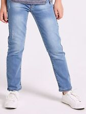 Girls Denim Jeans Light Wash Various Ages 2 - 8 Free P+P