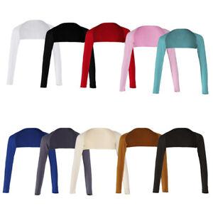 Muslim Islamic Ladies Ramadan Open Cropped Modal Arm Cover Shrug Hijab