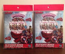 LOT of 2 Sticker Avengers Treats 16 Sticker Boxes Each Party Favors Classroom
