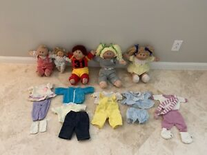 Vintage 80's Lot Of Cabbage Patch Dolls + Clothes