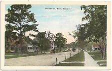 Scene on Bonham Street in Paris TX Postcard