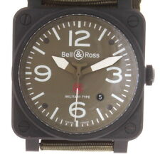 AUTHENTIC BELL & ROSS BR-03-92-MILITARY-TYPE AVIATION MENS WATCH