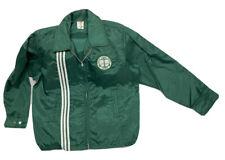 VTG Green Racing Stripe Jacket Mens Size M Windbreaker Nylon Great Lakes Paper