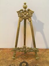Beautiful Antique Brass Table Display Easel Ornate for Art/Plate/Photo Display