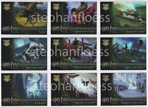 Harry Potter and the Prisoner of Azkaban Update Complete Foil Puzzle Set R1-R9