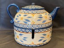 Temptations by Tara - Old World Blue Teapot & Warmer