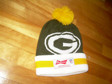 BUDWEISER Proud Sponsor of NFL Green Bay Packers Patch Knit New Hat Toque Beanie