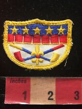 Vintage Golf Patch Golfer - Red Blue White & Yellow 85BB