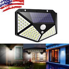 100LED Solar Power PIR Motion Sensor Wall Light Outdoor Garden Lamp Waterproof