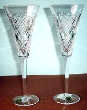 Waterford Celebration of Love Champagne Flute Pair Crystal Ireland 114925 New