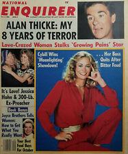 National Enquirer Oct 4 1988 Alan Thicke Sam Kinison Jess Hahn Cybill Shepherd