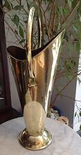"""STUNNING BRASS VICTORIAN 69CM  27"""" TALL (INC HANDLE) CONE SHAPED COAL SCUTTLE"""
