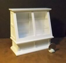Dollhouse Miniature White Store Display Case 1:12 inch scale D11 Dollys Gallery