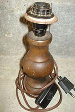 PIED LAMPE EN BOIS VINTAGE