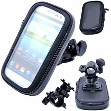 Bicycle Case Mobile Phone Handle Bar Holder Waterproof Rotating Bike Mount