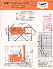 VINTAGE AD SHEET #3081 - 1960s YALE FORKLIFT MODEL G82P-020