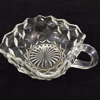 """Fostoria American Clear Glass Early American Square Nappy Bowl Handled 5-1/2"""""""