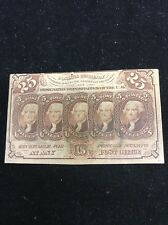25 Cents Postage Fractional Currency 1862 FR#1281 XF Bill Circulated