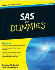 SAS For Dummies, McDaniel, Stephen, Hemedinger, Chris, Good Condition, Book