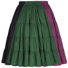 High Waist Long Skirt Fashion Women Dark Green Black Casual Maxi Pleated Skirts