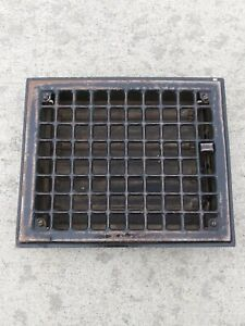 "Vintage Antique Metal Floor Wall Heat Register Vent Grate 11-11/16"" x 9-11/16"""