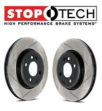 StopTech Set Pair Front Left & Right Slotted Brake Rotors For Nissan Infiniti