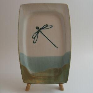 Smith Pottery North Carolina Hand Made Dragonfly Tray Plate