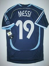New 2006-2008 World Cup Adidas Argentina Lionel Messi #19 Kit Shirt Jersey Away