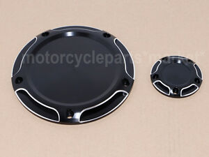 Black Derby & Timing Timer Cover For Harley Electra Road Tri Glide FLHTCU FLTRX