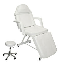 Stationary Adjustable Facial Massage Table Bed Chair Beauty Salon Spa Equipment