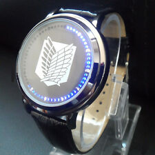 Sport Anime Attack On Titan LED Touch Screen Electronic Leather Strap Watch Gift
