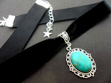 Turquoise Choker Stone Costume Necklaces & Pendants