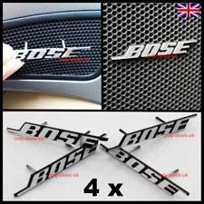 4 x Bose Speaker Metal Pin Grill Badge Sticker Set VW BMW Audi Porsche New Door