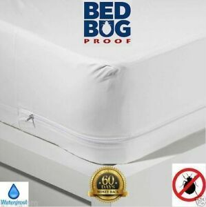 MATTRESS ENCASEMENT Bed Bug Proof STRONG Waterproof Zippered Vinyl Cover Protect