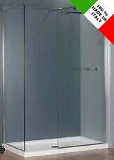 Cabina bagno box doccia open space walk in, cristallo da 8 mm in diverse misure