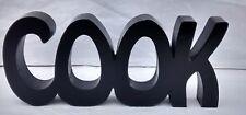 FREE STANDING WOODEN PLAQUE COOK in black