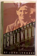 Christopher Isherwood: A Personal Memoir - John Lehmann - 1st Edition 1988