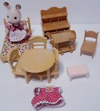 Sylvan Families Calico Critters Dollhouse Furniture Rabbit Figure Dress Lot
