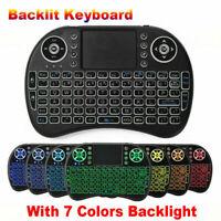 i8 Mini Wireless Keyboard Maus Tastatur Touchpad Backlit für Android TV BOX