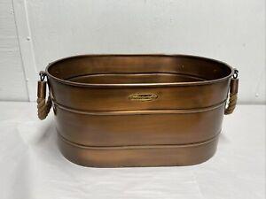 Vintage Smith and Hawken Large Copper Planter Beverage Tub