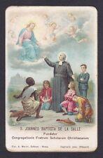 SAN GIOVANNI BATTISTA DE LA SALLE 02 SANTINO HOLY CARD IMMAGINETTA - Ed. MARINI