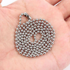 5Pcs Fashion Silver Plated Stainless Steel Beads Chains Charm Necklace Jewelry