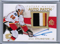 16/17 SP AUTHENTIC OLIVER KYLINGTON FUTURE WATCH RC PATCH AUTO 100 CALGARY FLAME