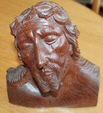 buste en bois de jésus les larmes du christ objet de dévotion religieux
