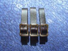 3 New 1/2 inch Black Leather Pocket Watch Fob Straps